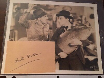 Buster Keaton  Signed Cut With Photo