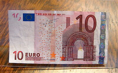 2002 European 10 Euro Currency Note----circulated