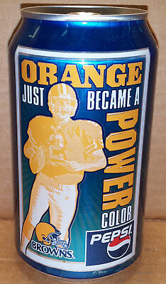 Pepsi – Cleveland Browns / Tim Couch - Orange Power Color 12 oz can 2002