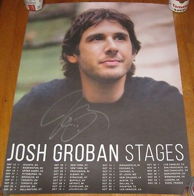 Josh Groban Stages Tour Poster 18 x 24 inches Signed
