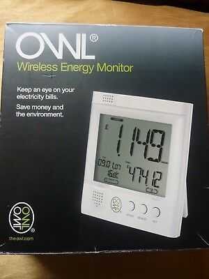 NEW OWL Wireless Energy Monitor -6 AA Energizer Batteries Included-