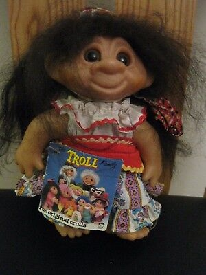 """Vintage Troll Doll by Thomas Dam Made in China. 8"""" in HEIGHT.."""