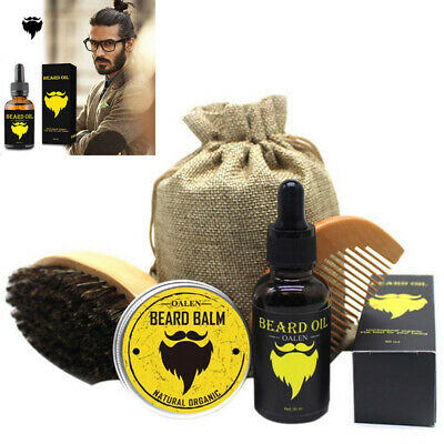 Pro Beard Grooming Kit, Beard Balm , 100% Natural Organic Moustache Oil & Comb