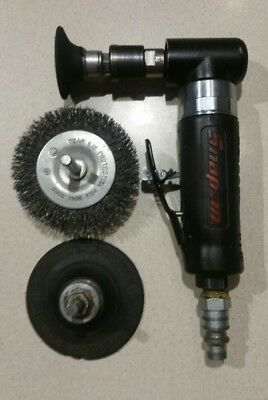 Snap On Pt110A Mini Pneumatic Angle Die Grinder 25000 Rpm/ Dynaswivel 95460