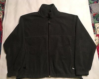 Mens Columbia Fleece Jacket Size XL Gray Adjustable Bottom Nice