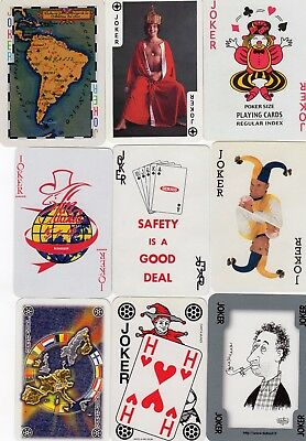 "9 Different ""Great"" JOKER Playing Cards #700"