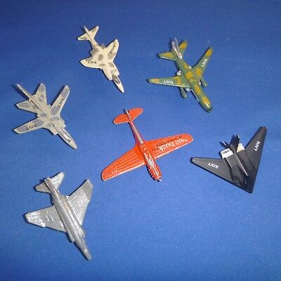 Lot of Six Little Planes 2 Die Cast & 4 Plastic- 1 Flying Tiger