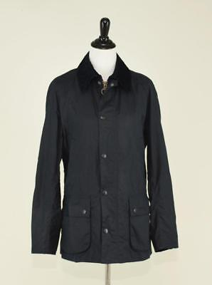 Nwt Men's Barbour Sylkoil Ashby Wax Cotton Jacket By J.crew $399 S 46 Navy A0999