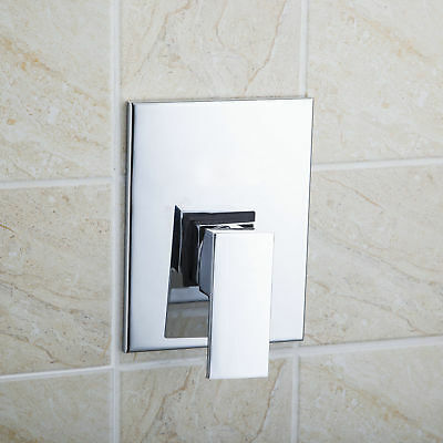 AS Bathroom Wall Mount Chrome Simple Shower Control Single Handle Valve Faucet