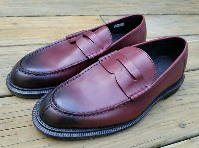 aa9242685a0 WOW! Dr DOC Martens Penton Penny Loafers Size 8 M Burgundy Leather Slip-On