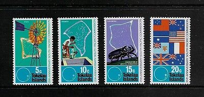 TOKELAU - mint 1972 75th Anniv South Pacific Commission, No.3, set of 4, MNH MUH