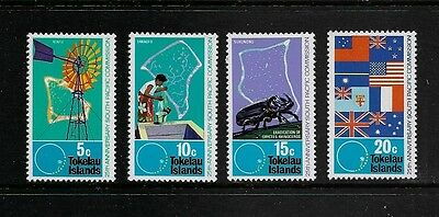 TOKELAU - mint 1972 75th Anniv South Pacific Commission, No.2, set of 4, MNH MUH