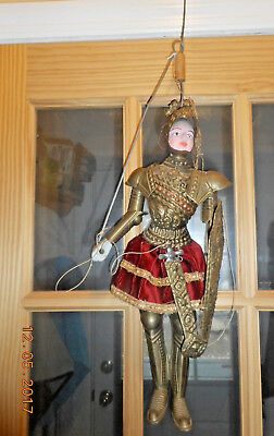 ANTIQUE VINTAGE PAINTED WOOD & TIN SICILIAN ITALIAN MARIONETTE PUPPET #1 of 2
