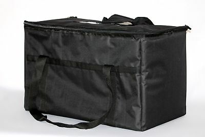 Insulated Nylon Food Delivery Bag Black Durable And Water Repellent For Outdoor