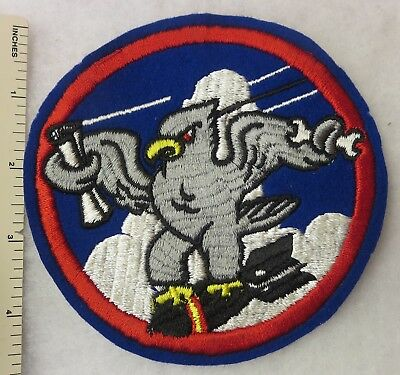 ORIGINAL WW2 Vintage US ARMY AIR FORCE BOMB SQUADRON PATCH INSIGNIA USAAF
