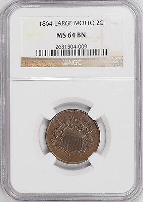 1864 Two Cent NGC MS64BN