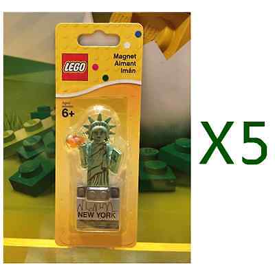 5pcs Lego 853600 Statue of Liberty New York Magnet Brand New 2016 RARE