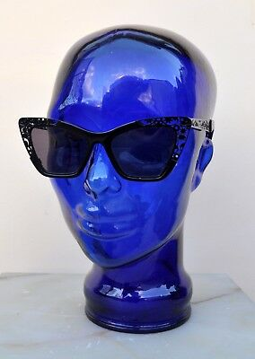 62cc2a8eb472 Karen Walker Siouxsie Filigree Cat Eye Sunglasses in Black w Case Sold Out  Rare!