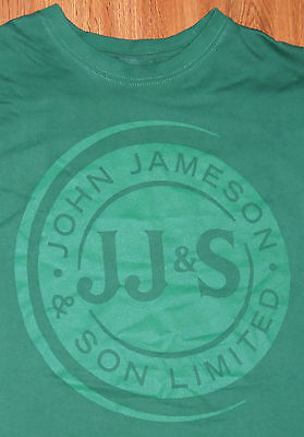 Jameson Irish Whiskey Green Graphic T-Shirt XL IRELAND ALCOHOL DUBLIN DISTILLERY