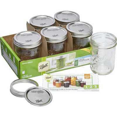 NEW Ball Wide Mouth Jars 6 Pack By Spotlight