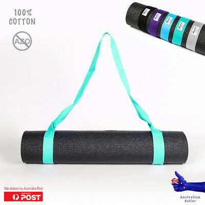 Yoga Mat Carry Stretch Strap 100% cotton Azo-free shoulder carrier sling