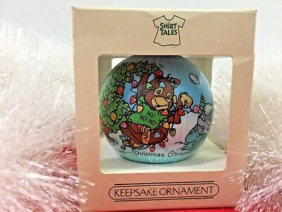 Hallmark 1984 Shirt Tales Satin Bulb Ornament