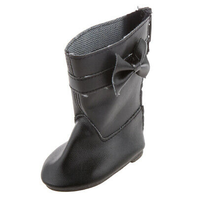 """Black Bow Boots Shoes for 18"""" American Girl AG /Our Generation/Journey Doll"""