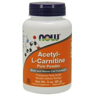 Now Acetyl L Carnitine 85G Pure Powder Transports Fatty Acids Boosts Cell Energy