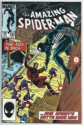 **amazing Spider-Man #265**jun 1985 Marvel**1St Print**1St Silver Sable**vf/nm**