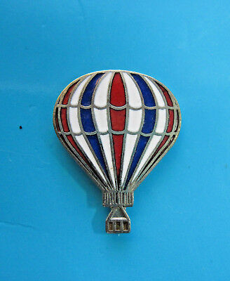 HOT  AIR  BALLOON  - hat pin , tie tac , lapel pin  (red, white blue) GIFT BOXED
