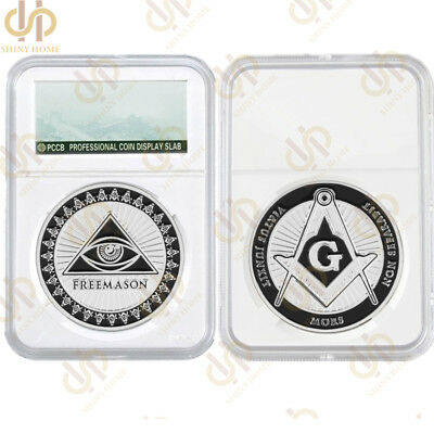 Token Free and Accepted Masons Silver Masonic Symbols Coin Collection W/ PCCB