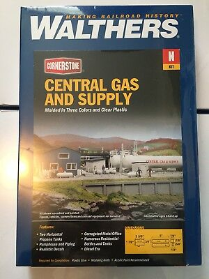 N Scale Walthers Cornerstone Central Gas Supply