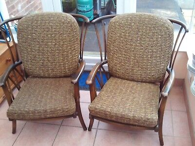 Vintage danish? Ercoll? armchairs