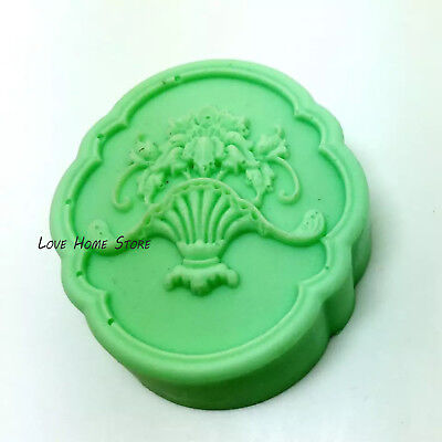 3D DIY flower pot Silicone mold Fondant Soap Candle Mould Cake biscuit chocolate