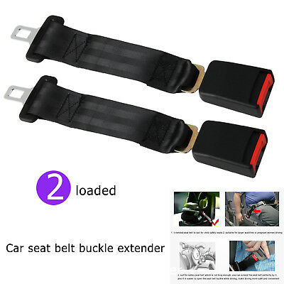 Auto Car Seat Belt 36cm Extension Extender Buckles 2.1cm Child Safety Support