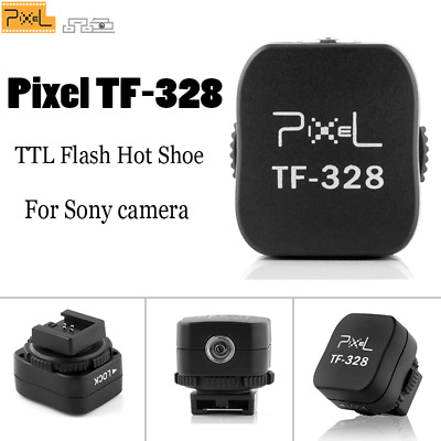 Pixel TF-328 TTL Flash Hot Shoe Covert to PC Socket adapter For Sony a6000 flash