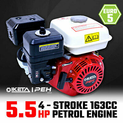 5.5HP OHV Petrol Engine Stationary Motor Horizontal Shaft Recoil Start