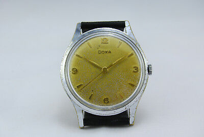 Doxa 1958 Swiss Made 37mm Vintage Big Size Collectors Champagne Dress Cal. 98
