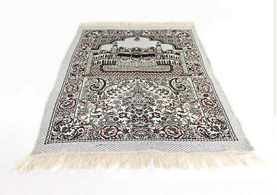NEW CHENILLE Turkish Islamic Prayer Rug-CARPET-Mat Namaz Salat Musallah