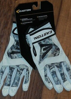 Small Easton Stealth Core Youth Batting Gloves Brand New Gray Camouflage