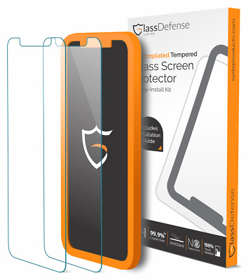 iPhone X Screen Protector, GlassDefense (2 Pack), PATENT-PENDING INSTALLER