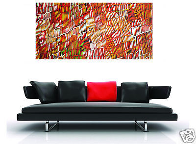 180cmx 90 LARGE oil painting canvas aboriginal art  great colours jane crawford