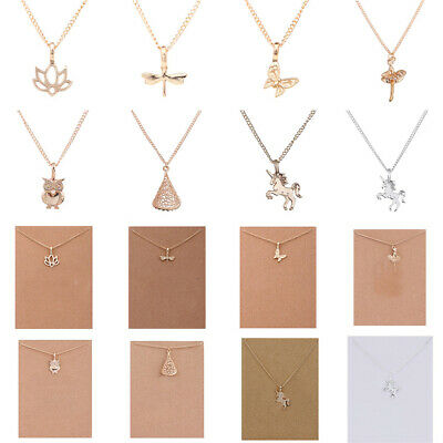 Women Fashion Simple Christmas Necklace Animal Charm Pendant Collar Jewelry Gift