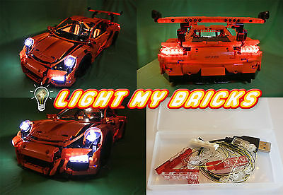 NEU! LED Light Licht Kit für for Lego Porsche 911 GT3 RS 42056