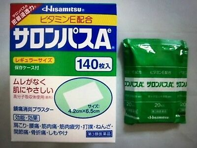 Salonpas Pain Relieving Patches - 1,2,3,4,5 Packets - Expiry 10/2020 Japan