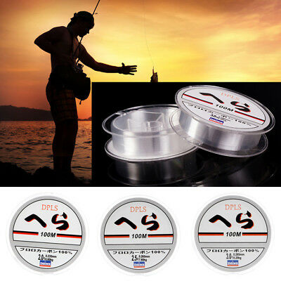 100m Super Strong Nylon Transparent Or Fluorocarbon Fishing Line Fishing Tackle