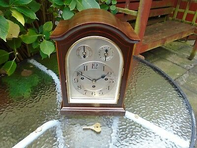 Desirable Miniature Triple Chain Fusee Musical Westminster Chimes Bracket Clock.