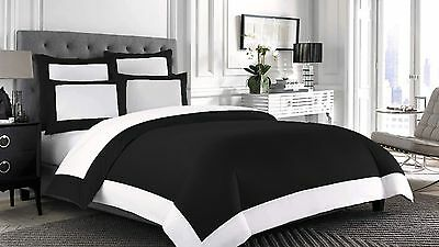 Egyptian Cotton 1000TC 1 Pc Designer Reversible Duvet Cover All Size All Color
