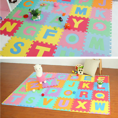 Kids Baby Foam Puzzle Mat Floor Alphabet Numbers Crawling Playing 36pcs NEW TP