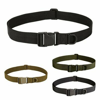 Buckle Military Trouser Belt Army Tactical Canvas Webbing Outdoor Camping
